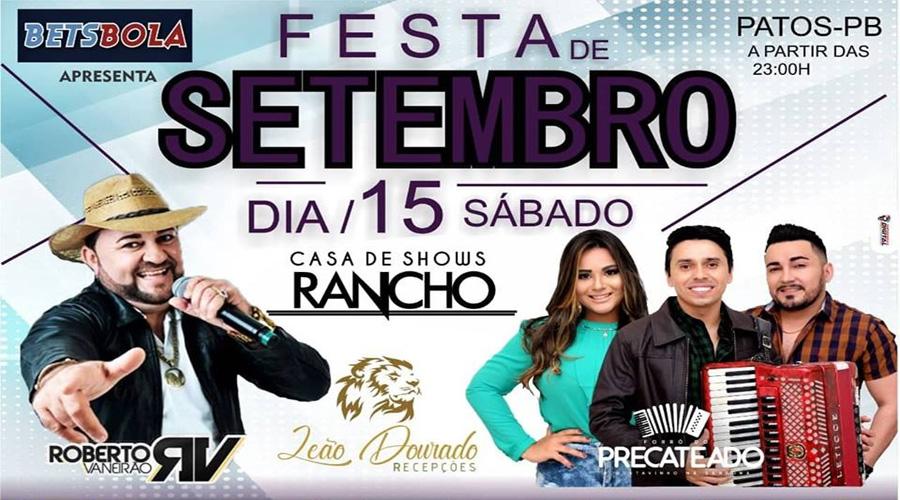 Churrascaria realiza Festa de Setembro no Rancho neste sábado, em Patos