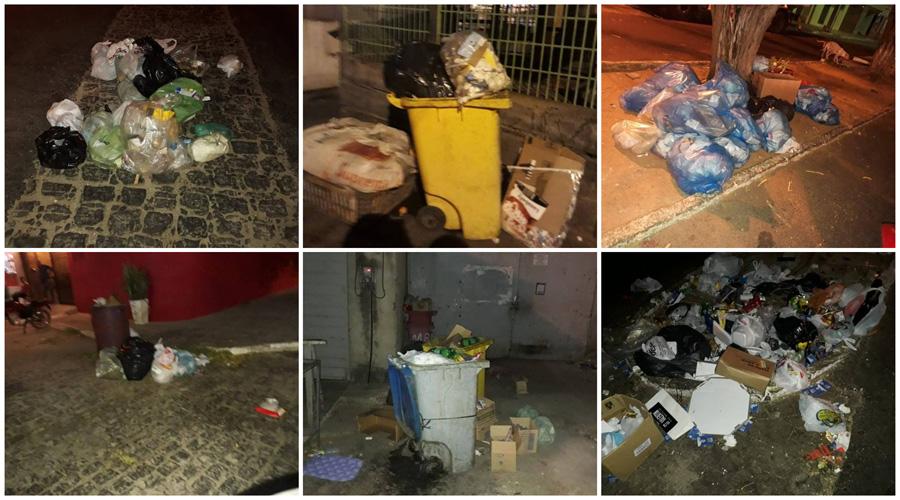 Com serviço de limpeza pública parado, população reclama de sujeira nas ruas de Patos