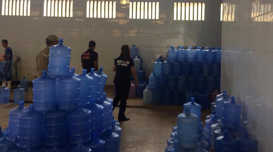 Dezessete fábricas de água mineral são fechadas em operação na Paraíba