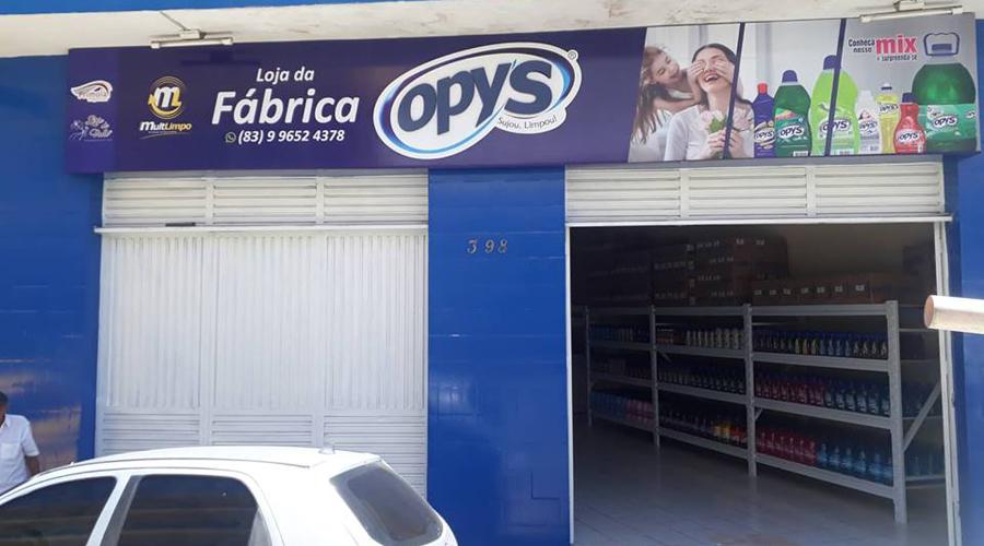 Mult Limpo inaugura loja da fábrica com sua nova marca OPY'S em Patos na próxima terça-feira