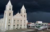 Uma bela imagem da Igreja Matriz de Pombal na tarde de hoje