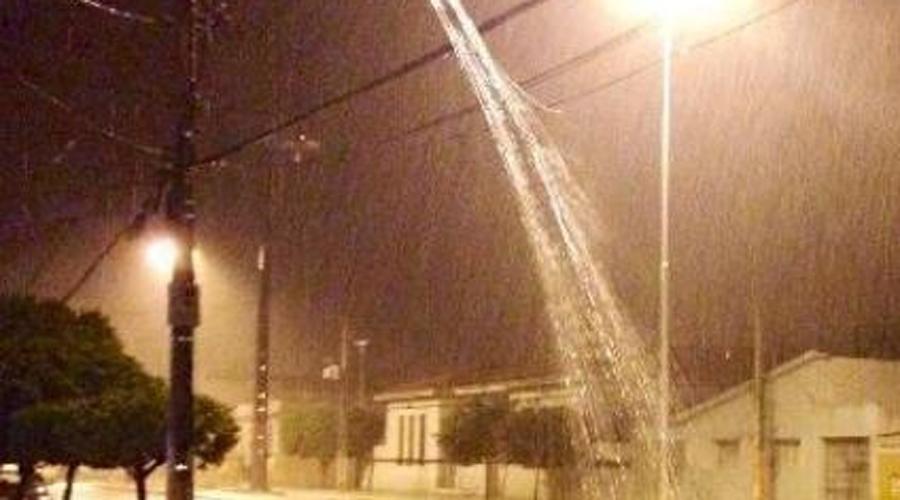 Chove 80 mm na zona rural de Conceição. Açudes da região pegando água