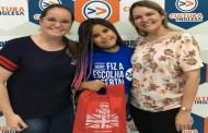 Lívia Valéria vai realizar o sonho de aprender inglês na Cultura Inglesa