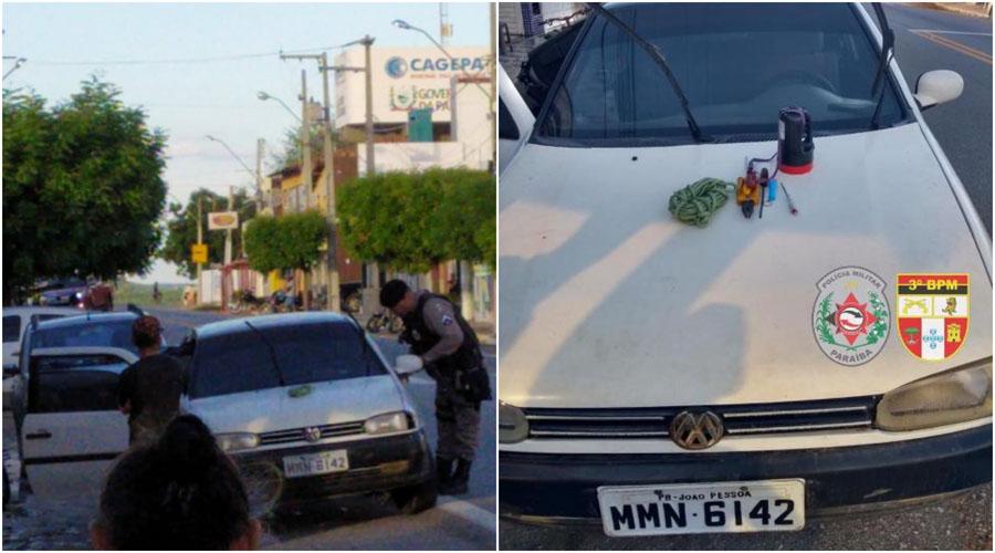 Policia Militar recupera veículo roubado em Condado
