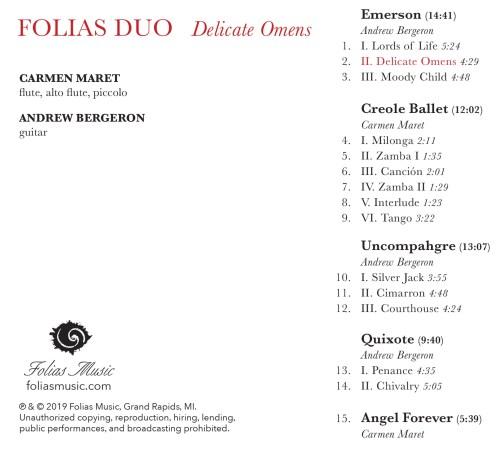 Delicate Omens CD Back Cover