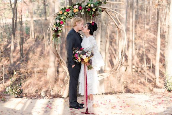 Photo by Ana Teresa Galizes from our Styled Shoot at The Meadows at Firefly Farm Preserve in Raleigh, NC - December 2017