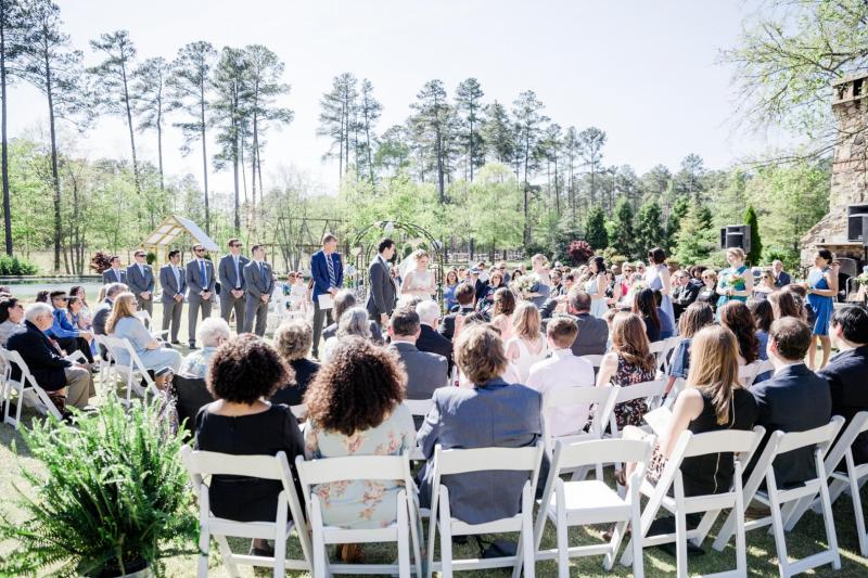 Non-traditional Wedding Ideas - Rebecca & Dane's Quaker Ceremony in the round in Chapel Hill, NC - Photo by Ariel Kaitlin