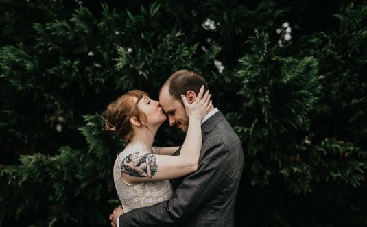 Christine + Conor's Mountain Wedding at Claxton Farm in Asheville, NC