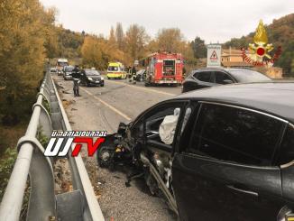 Incidente stradale a Vescia di Foligno, ci sono feriti
