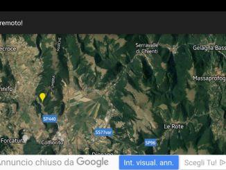Scossa di terremoto nella notte a Foligno, 3.4 a Serravalle del Chienti