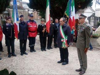 Cerimonia commemorazione dei defunti al cimitero centrale di Foligno