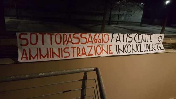 Sottopassaggio Europa, Blocco Studentesco contro l'amministrazione