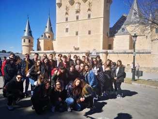 Delegazione di studenti di Granada a Foligno allo Scarpellini