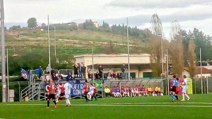 Sfortunata trasferta Foligno a Bagno a Ripoli per con Grassina per 3 a 1