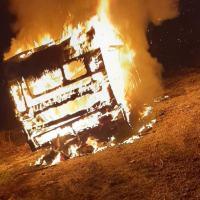 Incendio, brucia roulotte Sinti in via Londra a Sant'Eraclio