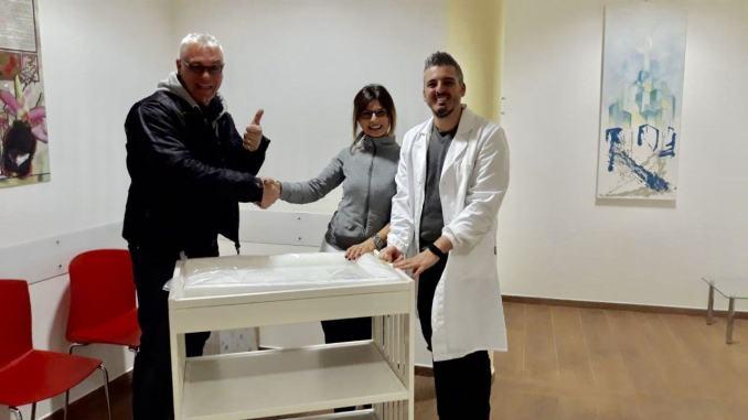 Un fasciatoio per la casa della salute, una donazione dal Terziere Castello
