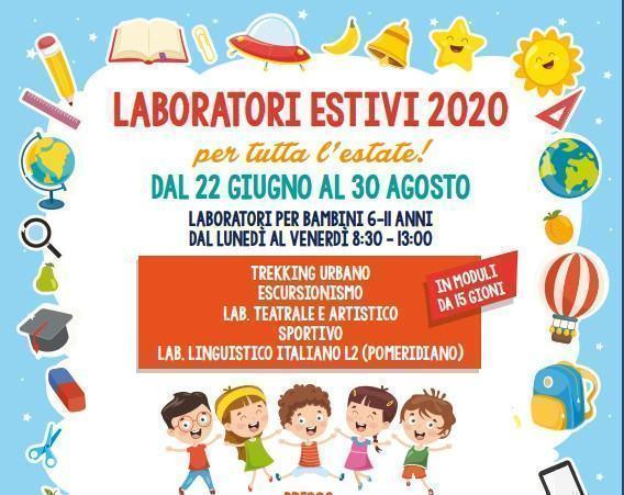 Dal 22 giugno al 30 agosto il Comune avvierà i laboratori ricreativi