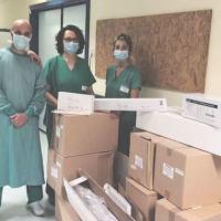 Terapia intensiva Foligno, doni da Pro Limiti di Spello e dalla Federcaccia, presidi sanitari di grande utilità