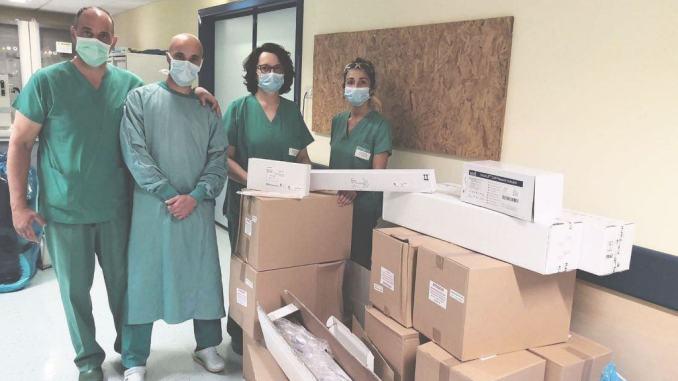 Terapia intensiva Foligno, doni da Pro Limiti di Spello e dalla Federcaccia