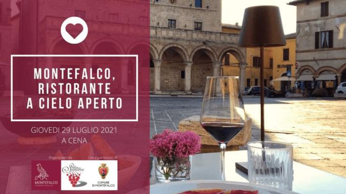 Montefalco ristorante a cielo aperto torna la grande sala en plein air d'Italia