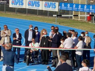Inaugurata la nuova pista di atletica leggera a Foligno