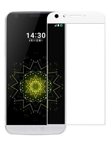 Folie curbată 3D din sticlă securizată pentru LG G5 ALB
