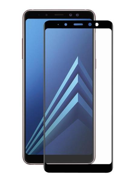 Folie curbată 5D din sticlă securizată pentru Samsung Galaxy A8+ (2018) NEGRU - Full glue