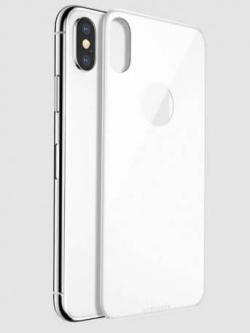 Folie 5D din sticlă securizată pentru iPhone X / XS - SPATE - ALB