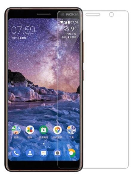 Folie curbată 3D din sticlă securizată pentru Nokia 7 Plus TRANSPARENT (full cover)