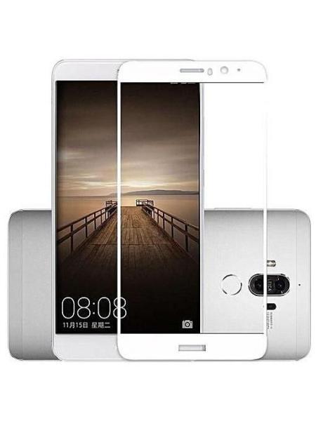 Folie curbată 5D din sticlă securizată pentru Huawei Mate 9 ALB - Full glue