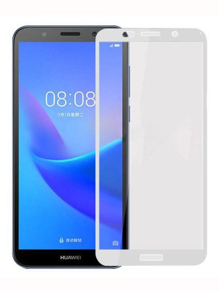 Folie Fullscreen 2.5D din sticla securizata pentru Huawei Y5 (2018) ALB