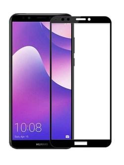 Folie Fullscreen 2.5D din sticla securizata pentru Huawei Y7 (2018) NEGRU