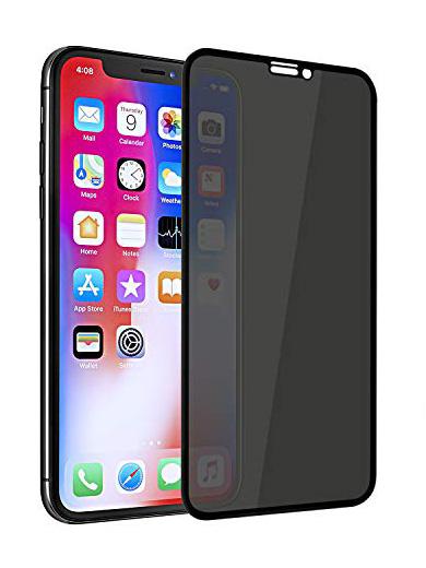 Folie PRIVACY curbată 5D din sticlă securizată pentru iPhone X / XS / 11 Pro