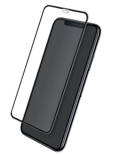 Folie curbată 5D din sticlă securizată pentru iPhone XR / iPhone 11 - NEGRU