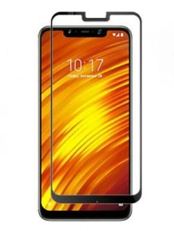Folie curbată 5D din sticlă securizată pentru Xiaomi Pocophone F1 NEGRU - Full glue