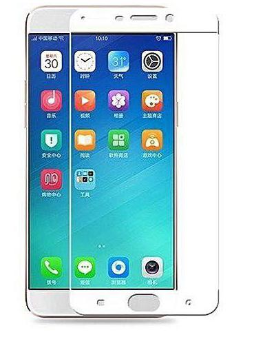 Folie Fullscreen 2.5D din sticla securizata pentru Oppo R9 Plus ALB