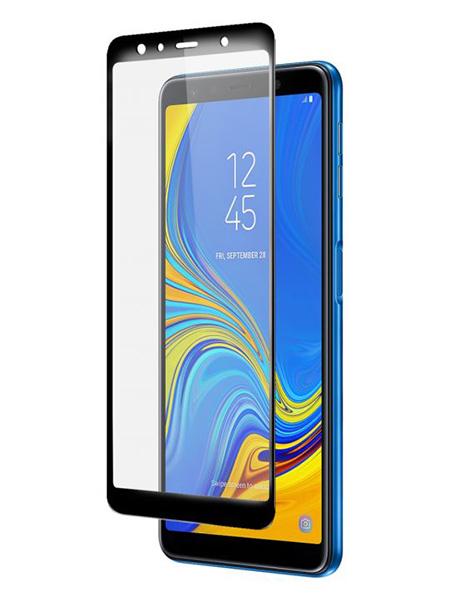 Folie ușor curbată 5D din sticlă securizată pentru Samsung Galaxy A7 (2018) NEGRU - Full glue