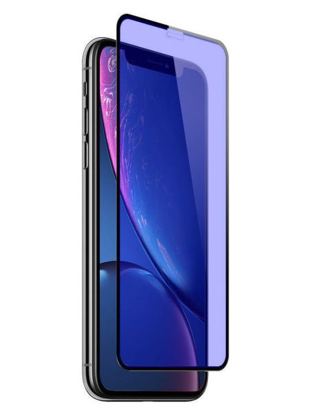 Folie ANTI BLUE-RAY curbată 5D din sticlă securizată pentru iPhone XR / iPhone 11