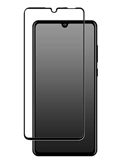 Folie curbată 5D din sticlă securizată pentru Huawei P30 Lite NEGRU - Full glue