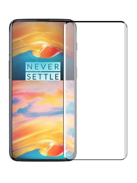 Folie curbată 3D din sticlă securizată pentru OnePlus 7 Pro / 7T Pro NEGRU