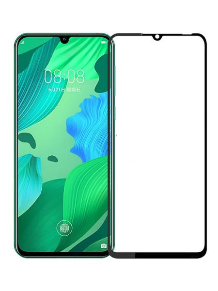 Folie curbată 5D din sticlă securizată pentru Huawei Nova 5 / 5 Pro NEGRU - Full glue