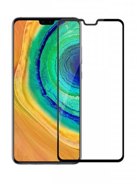 Folie curbată 5D din sticlă securizată pentru Huawei Mate 30 NEGRU - Full glue