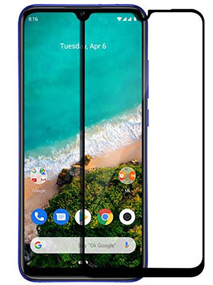 Folie curbată 5D din sticlă securizată pentru Xiaomi Mi A3 / Mi CC9e NEGRU - Full glue