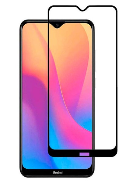 Folie curbată 5D din sticlă securizată pentru Xiaomi Redmi 8 / 8A NEGRU - Full glue
