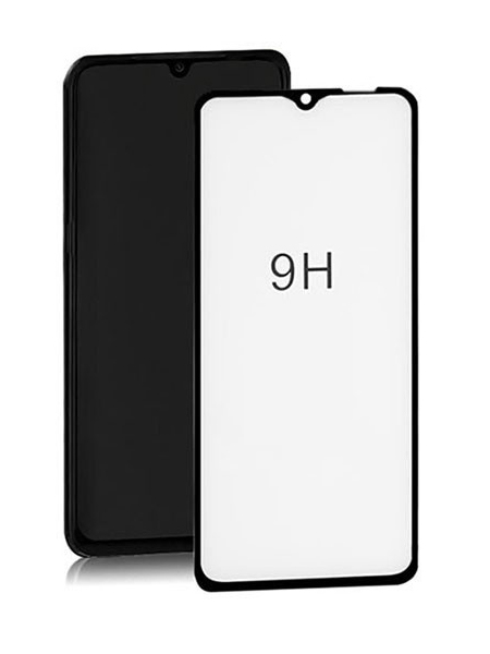 Folie curbată 5D din sticlă securizată pentru Samsung Galaxy A10E / A20E NEGRU - Full glue
