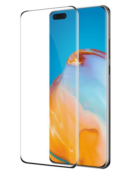 Folie curbată 3D din sticlă securizată pentru Huawei P40 Pro / P40 Pro+ NEGRU (full cover)