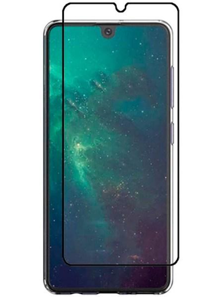 Folie curbată 5D din sticlă securizată pentru Samsung Galaxy A41 NEGRU - Full glue