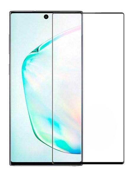 Folie curbată 3D din sticlă securizată pentru Samsung Galaxy Note20 NEGRU - FULL GLUE