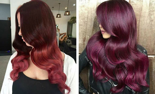 21 Amazing Dark Red Hair Color Ideas Foliver Blog