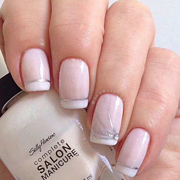 3 White French Tip Nail Design